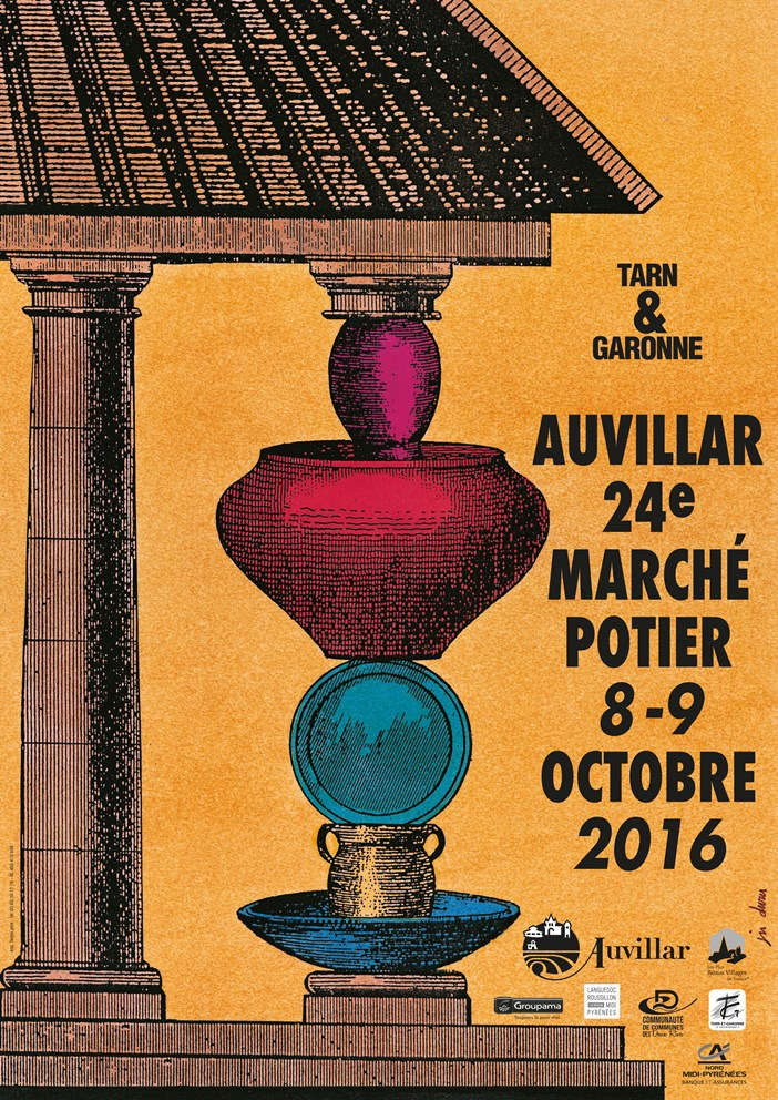 affiche du marché d'Auvillar
